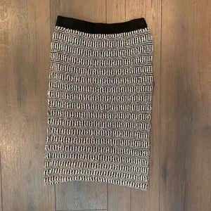 Sanctuary Skirts - Sanctuary Womens Black & White Sweater Knit Skirt